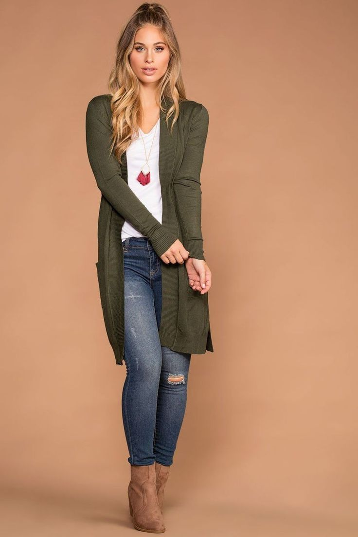 71 Cozy and Cute Fall Outfits with Long Cardigan