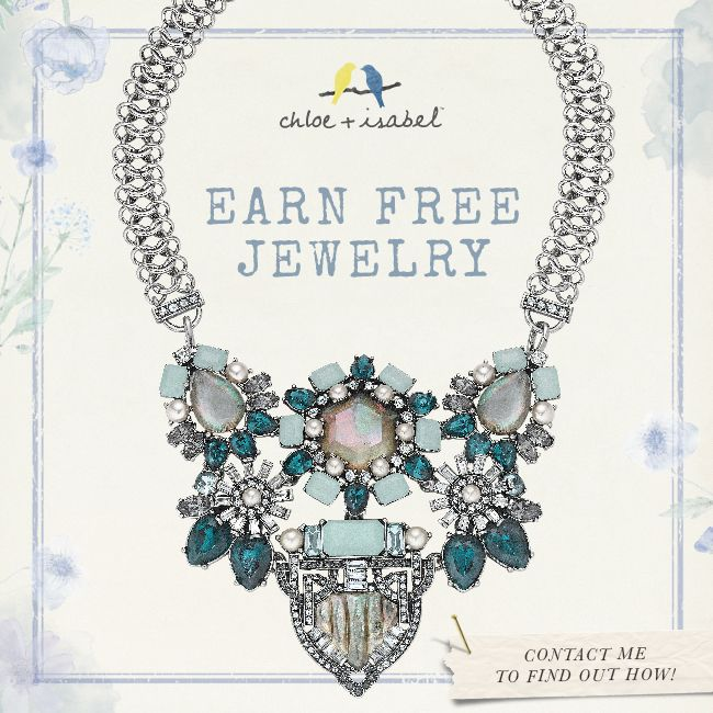 Host a party and receive FREE Chloe + Isabel Jewelry!  Contact me to learn more! www.chloeandisabel.com/boutique/jennyslater#41766
