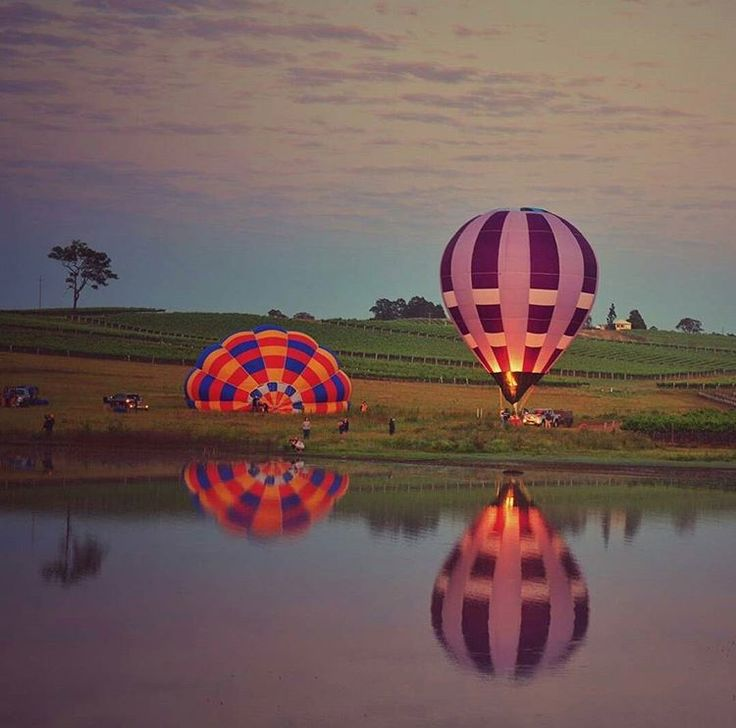 Absolutely gorgeous reflection. Location: Pokolbin, Hunter Valley, NSW, Australia.