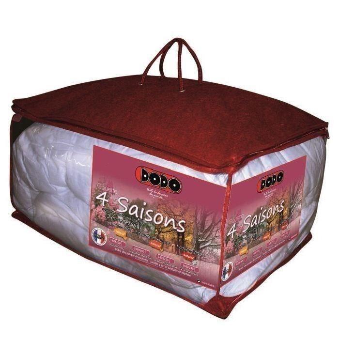 DODO Couette 4 SAISONS 200+300g/m² 240x260cm - Achat / Vente couette    - Cdiscount