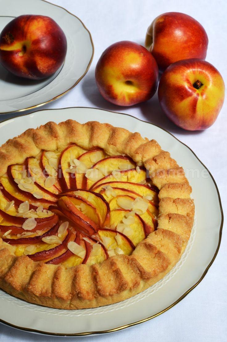 ITALIAN FOOD - CROSTATA DI PESCHE (Peach Tart Recipe Easy)