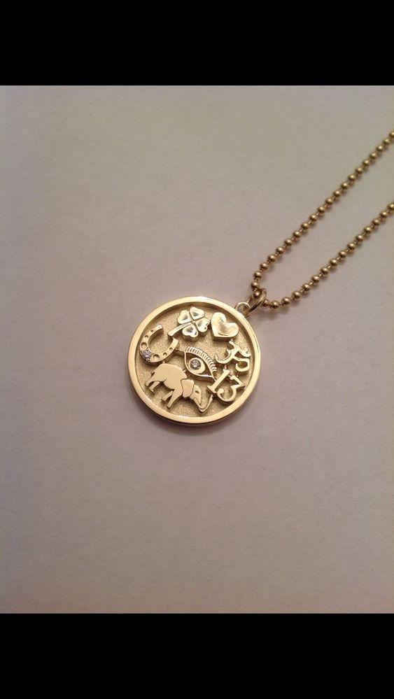 JENNIFER MEYER Gold & Diamond Good Luck Charm Necklace