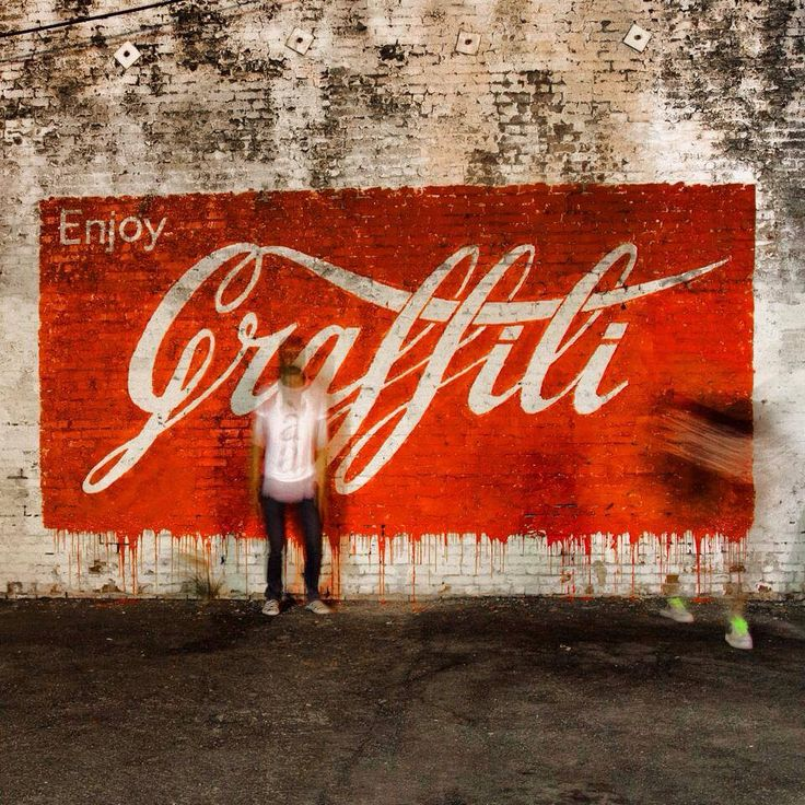 "by Ernest Zacharevic - New mural: ""Enjoy Graffiti"" - Los Angeles, CA - 09.07.2014"