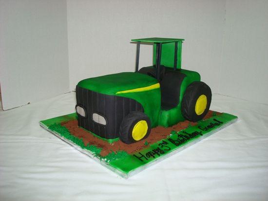 Unique Tractor Birthday Cake