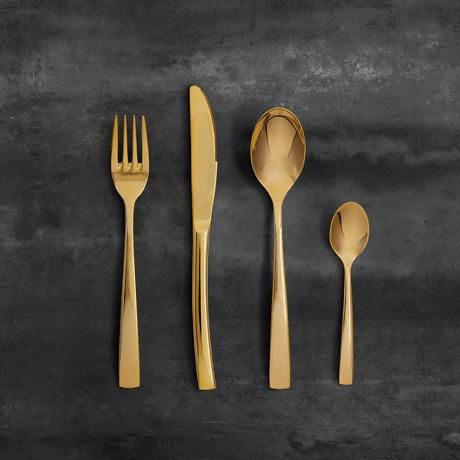 Aida | Passion cutlery 16 pcs. set gold