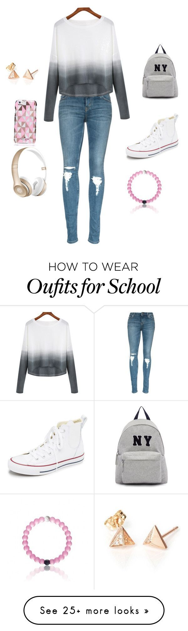 """""""School clothes"""" by sydneyhall131 on Polyvore featuring Mode, Converse, Joshua's, Kate Spade, Beats by Dr. Dre, women's clothing, women's fashion, women, female und woman"""