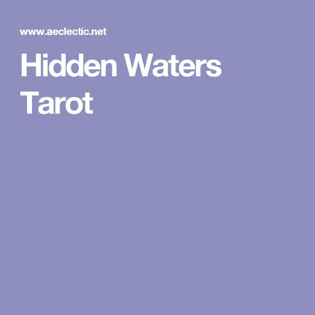 Hidden Waters Tarot