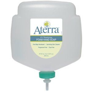 Aterra Pumice Hand Soap (4/2000 mL Bottles) by Aterra. $70.95. Aterra E-2 Sanitizing Foam Hand Soap complies with former USDA guidelines for E2 cleaners used in food processing and food handling areas.. Aterra Pumice Hand Soap is a scrubbing hand soap for cleaning medium to heavy dirt, grease, and oils from hands. The gel-style soap is fortified with natural pumice and moisturizers to scrub away soils and condition skin. Dirt rinses away with water and leaves ...