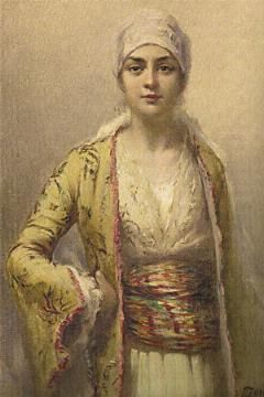 Portrait of an unknown Ottoman woman