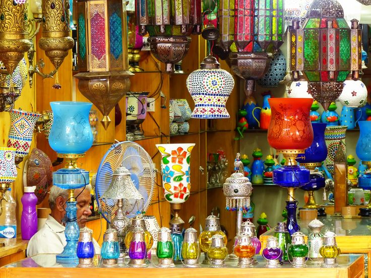 Traditional Lamps, Jaipur, India jigsaw puzzle