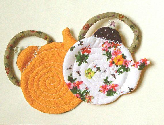 Funky Coasters, Modern Coasters, Colorful Coaster, Floral coaster, table coasters, reversible coasters set of 2, orange white