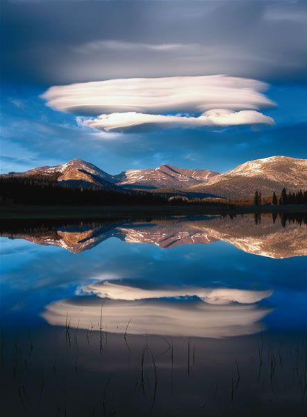 A beautiful view of nature, such as lenticular clouds over Yosemite National park, can restore your vitality.PHOTO: TIM FITZHARRIS/MINDEN PI...