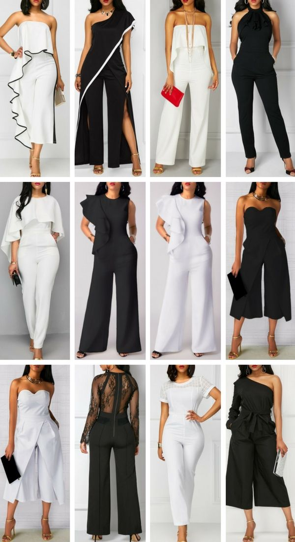 White Jumpsuits & Black Jumpsuits