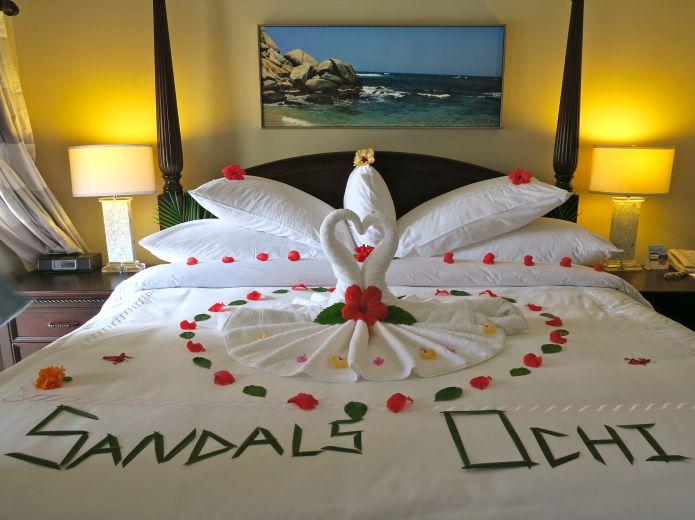 The honeymoon suite at Sandals Ochi Beach Resort in Jamaica