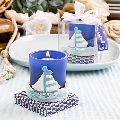 Sail Boat Votive Candle Holder