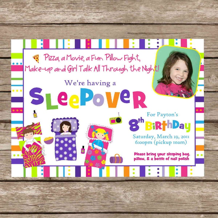 43 best images about pajama party – Cute Slumber Party Invitations
