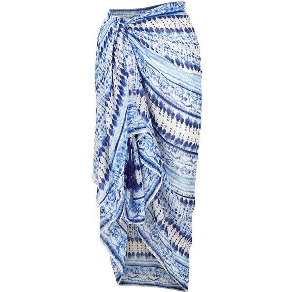 Accessorize Batik Print Sarong ($37) ❤ liked on Polyvore featuring swimwear, cover-ups, beach wear, beach sarong, beach sarong cover ups, sarong cover ups and bikini swimwear
