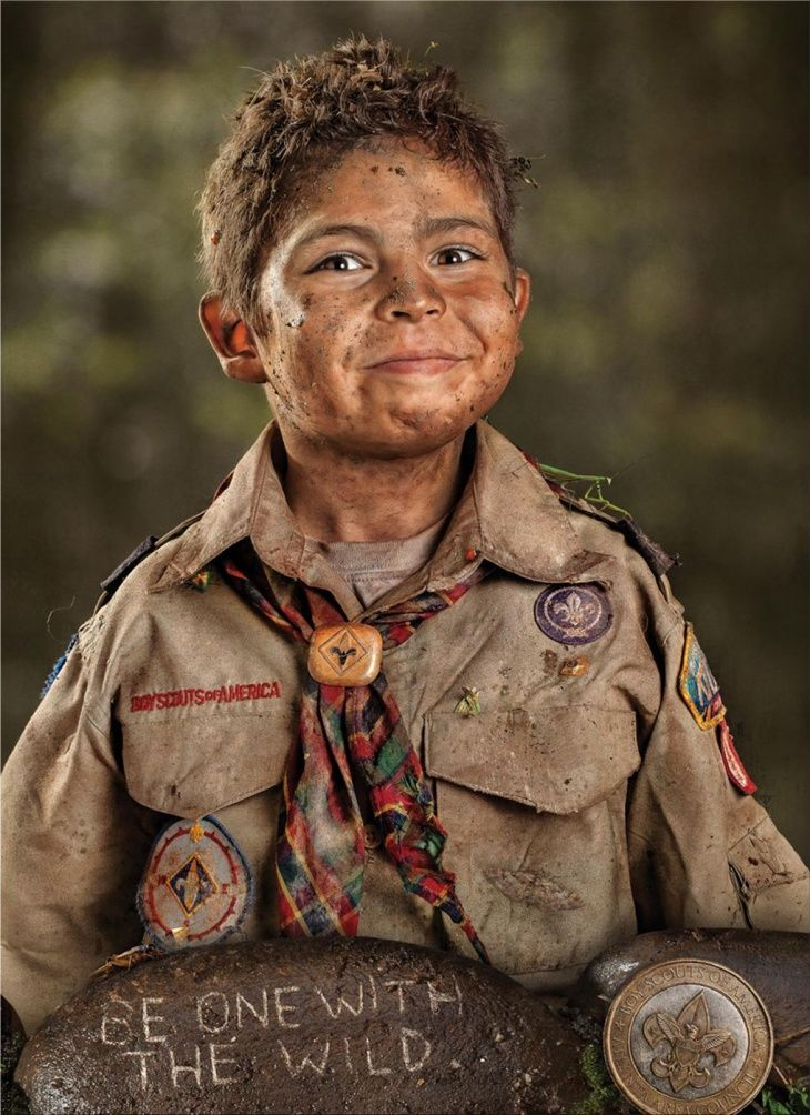 Boy Scouts - I love this pic! This is how they should come home from scout camp
