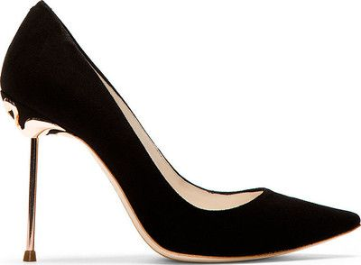 Sophia Webster Black Suede Coco Flamingo Pumps