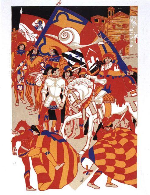 Duilio Cambellotti (1929 e 1930) - Comparsa della Contrada della Chiocciola