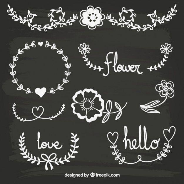 Decoração floral Blackboard