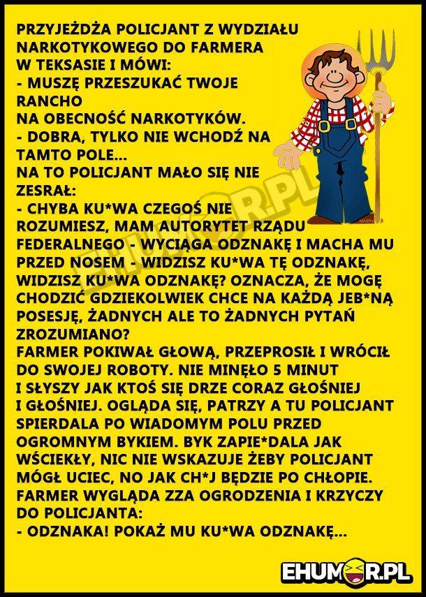 OTO JAK FARMER WROBIŁ POLICJANTA CWANIAKA! – eHumor.pl – Humor, Zabawne zdjęcia, fotki, filmiki, dowcipy, top 10, demotywatory