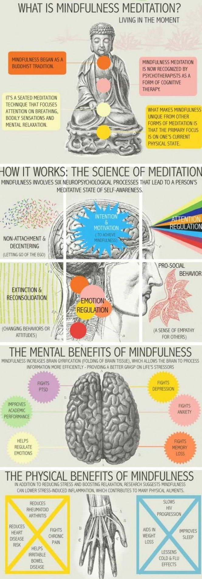 Mindfulness Meditation:  Have a look... How it works and its benefits....
