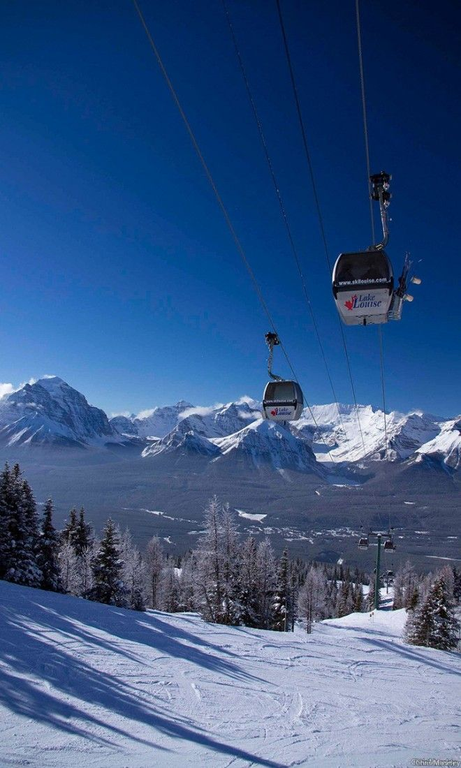 With 4,200 acres of skiable terrain, the Lake Louise Ski Resort is arguably one of the most scenic ski areas on earth.