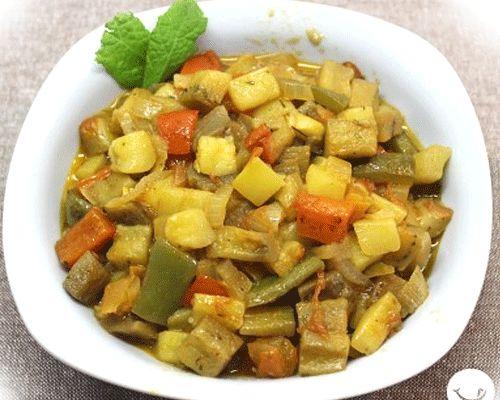 Pisto de verduras con pimientos y calabacín a la francesa
