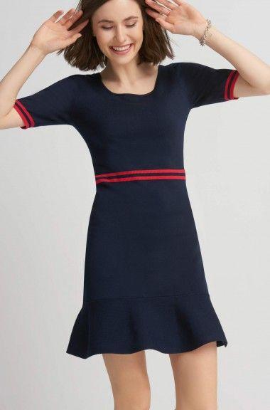 Sukienka z lamówkami