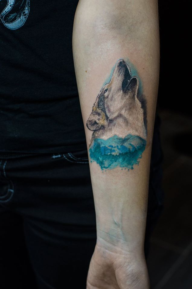 Wolf and Mountains by ficek-art.deviantart.com on @DeviantArt