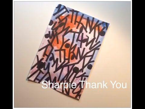 Sharpie Thank You