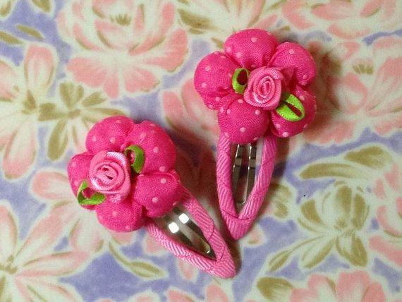 Kids fabric flower clipsChildren hair clipToddler hair by ursato, $5.00
