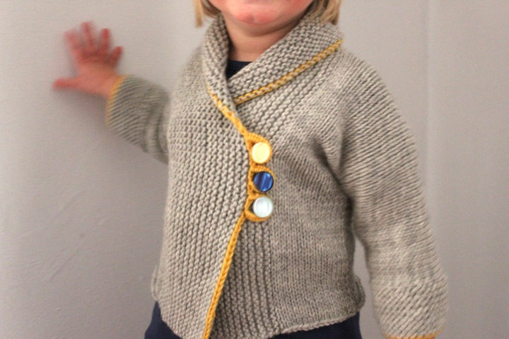 Sunny Day Toddler Sweater  -  Up to 18 Months. $72.00, via Etsy.