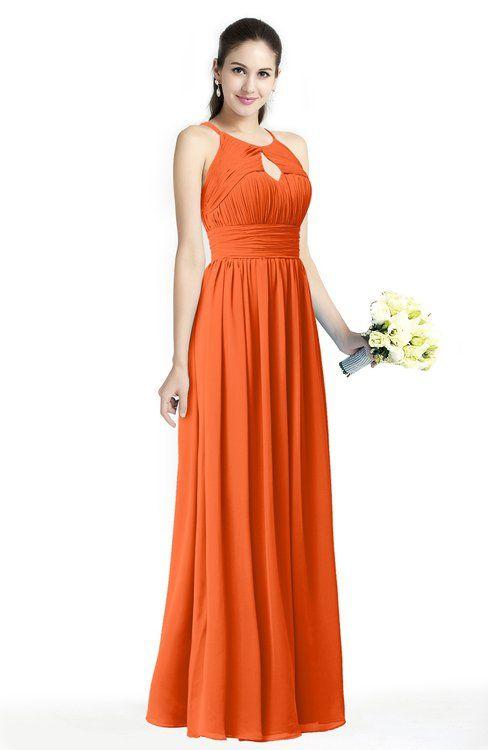 Traditional A-line Jewel Sleeveless Zipper Sash Bridesmaid Dresses