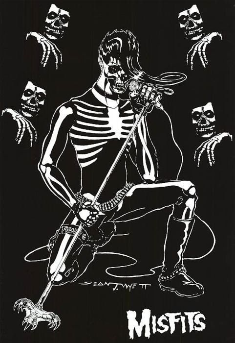 Founded in 1977 in Lodi, New Jersey, Misfits are an American Horror Punk band often recognized as the progenitors of the horror punk sub-genre, blending punk rock and other musical influences with horror film themes and imagery.