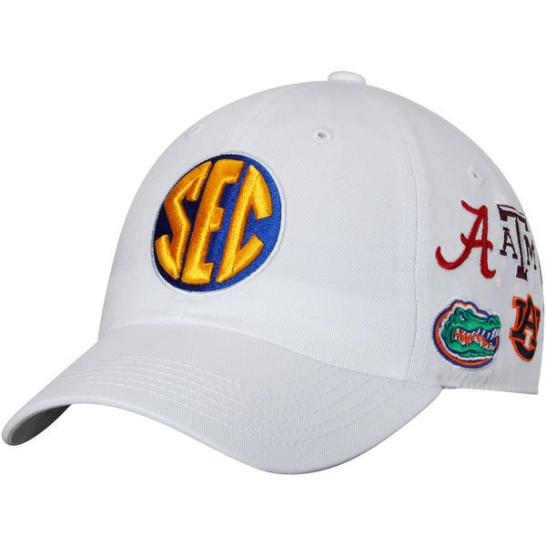 SEC Top of the World All Team Structured Adjustable Hat - White - $21.99