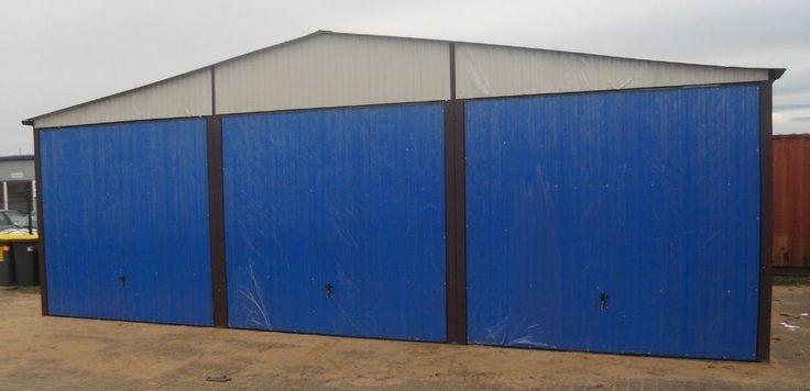 Garage 9 x 6 m Stahlhalle Doppelgarage Lagerhalle Autolager Schuppe Blechgarage in Heimwerker, Gebäudebausätze, Fertighausbausätze   eBay!   #blechgarage #stahlhalle #garagen #fertiggarage #autolager