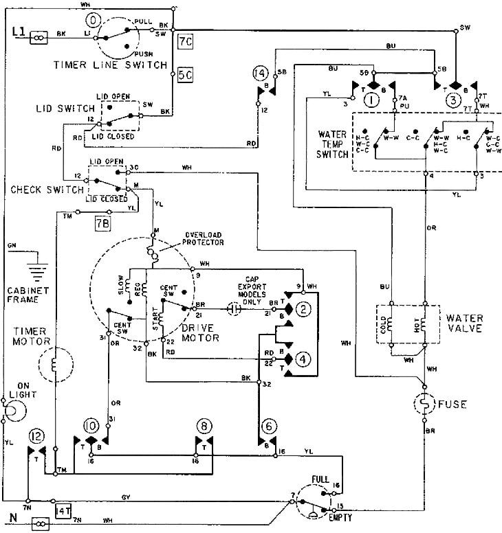 Wiring Diagram Of Washing Machine With Dryer Http Bookingritzcarlton Info Wiring Diagram Of Wa Washing Machine Motor House Wiring Electrical Circuit Diagram