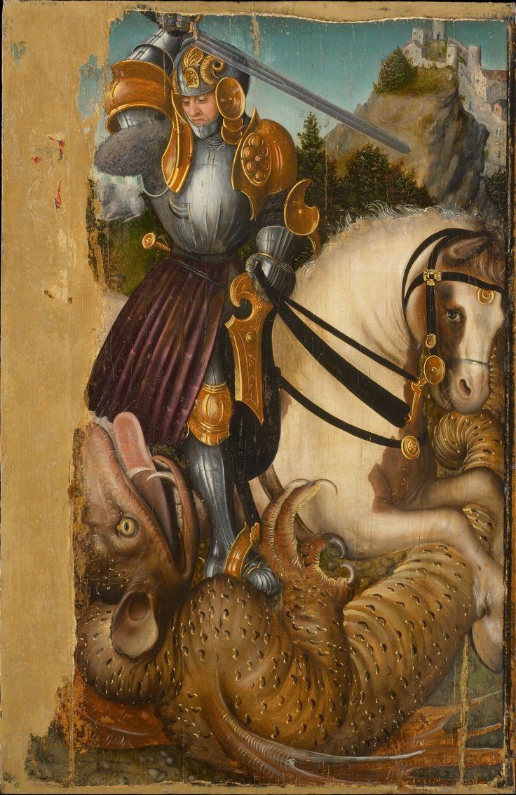 """koredzas: """" Workshop of Lucas Cranach the Elder - Saint George Fighting the Dragon. 1510 - 1520 """""""