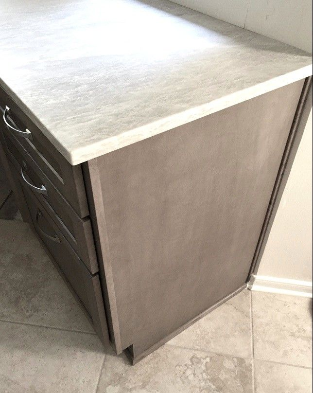 Showplace hickory cabinets with Rockport gray wash and ...