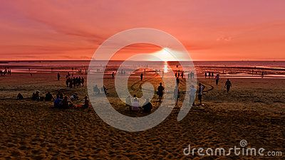 Stock Photo: Beautuful sunset in darwin australia on the beach