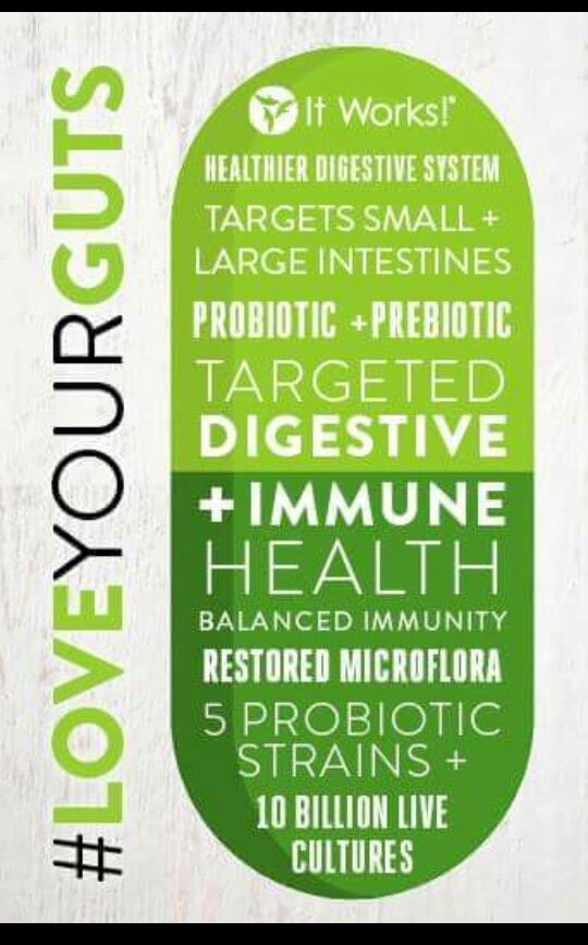 """One of my favorite moments from Green Carpet was introducing our new It Works! Probiotic. As Dr. Don says, """"The road to good health is paved by good intestines."""" I can't wait to see the impact this has on your health! Here's a breakdown of the best features of our Probiotic as it restores the good bacteria in your small AND large intestines! #LoveYourGuts"""