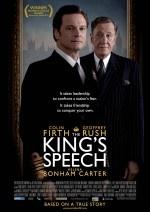 Colin Firth als de stotterende koning George VI die een logopedist inschakelt om van zijn probleem af te komen en het land te leiden