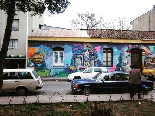 Street Art Chile Barrio Yungay Santiago / Arte Callejero Barrio Yungay Santiago de Chile