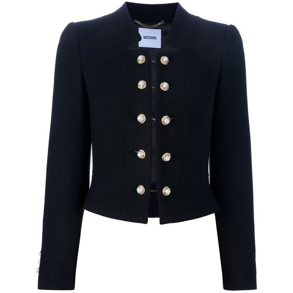 MOSCHINO Double button blazer ($895) ❤ liked on Polyvore