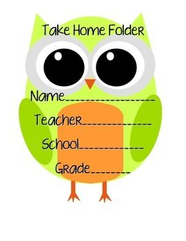 This Student Take Home Folder Cover matches the Owl behavior charts and the Owl ABC charts! Decorate your class and your student folders in trendy owls! Hope you enjoy!Elizabeth Strunk
