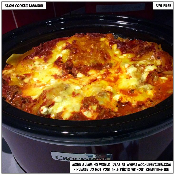 SLOW COOKER LASAGNE                                                                                                                                                                                 More
