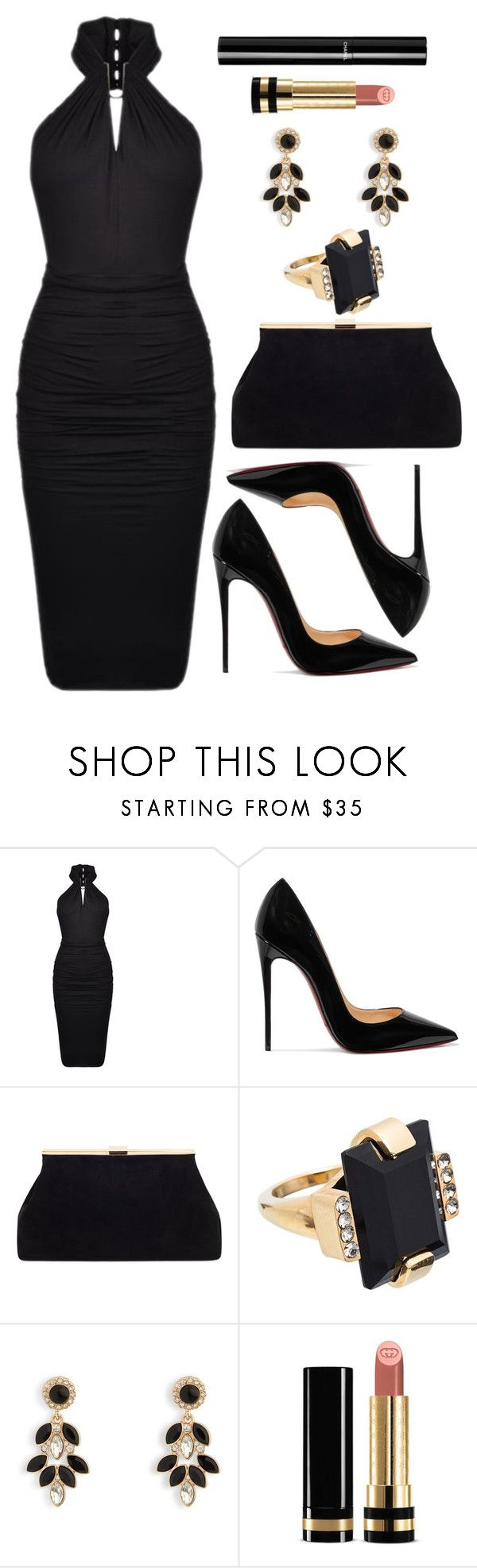 Untitled #4401 by natalyasidunova ❤ liked on Polyvore featuring Plein Sud, Christian Louboutin, Marni, Vera Bradley, Gucci and Chanel