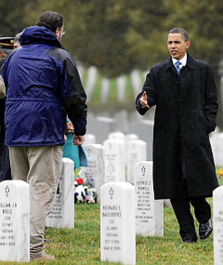 My solemn surprise meeting with Obama at my friend's resting place ...